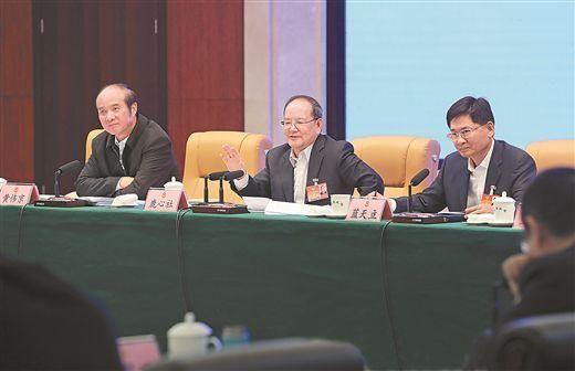 鹿心社陈武分别参加广西壮族自治区十三届人大三次会议代表团审议